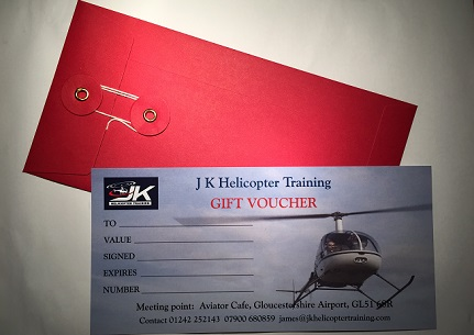 helicopter flight gift voucher glos